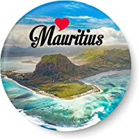 PEACOCKRIDE Love Mauritius I Souvenir l Travel I Fridge Magnet (Metal, Multicolour, 75mm)