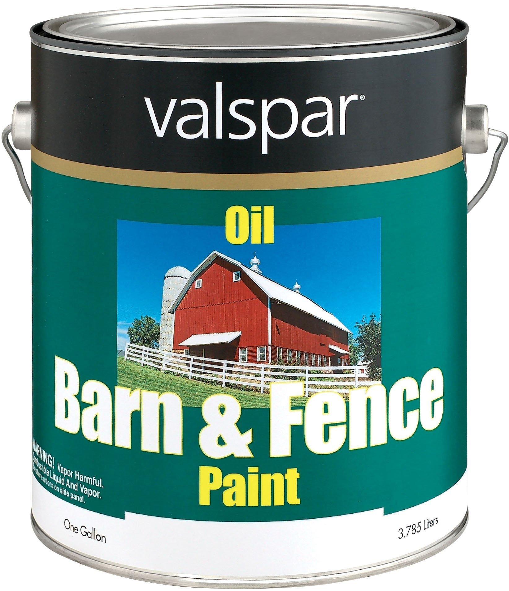 Valspar 3141-75 Barn and Fence Oil Based Paint, 1-Gallon, White