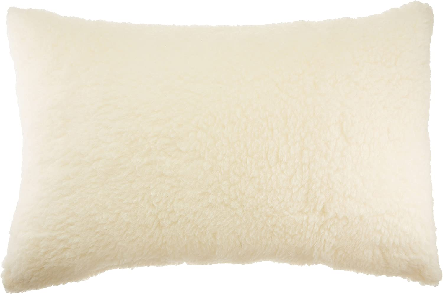Century Home Signature Collection Woolmark Certified Pure Wool Fleece Pillow Protector, Queen