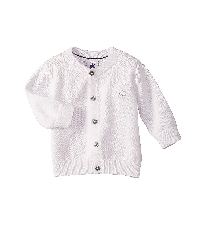 White-3 Months Petit Bateau Cardigan