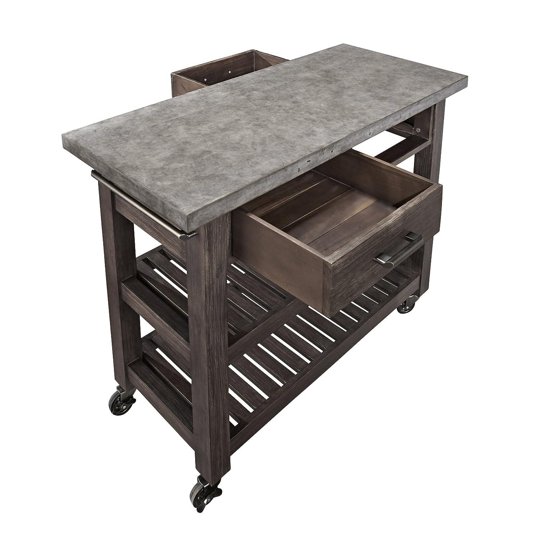home styles concrete chic kitchen cart kitchen