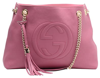 9eb916fd7 Amazon.com: Gucci Soho Large Leather Chain Shoulder Handbag Pink BHFO 0213:  Shoes