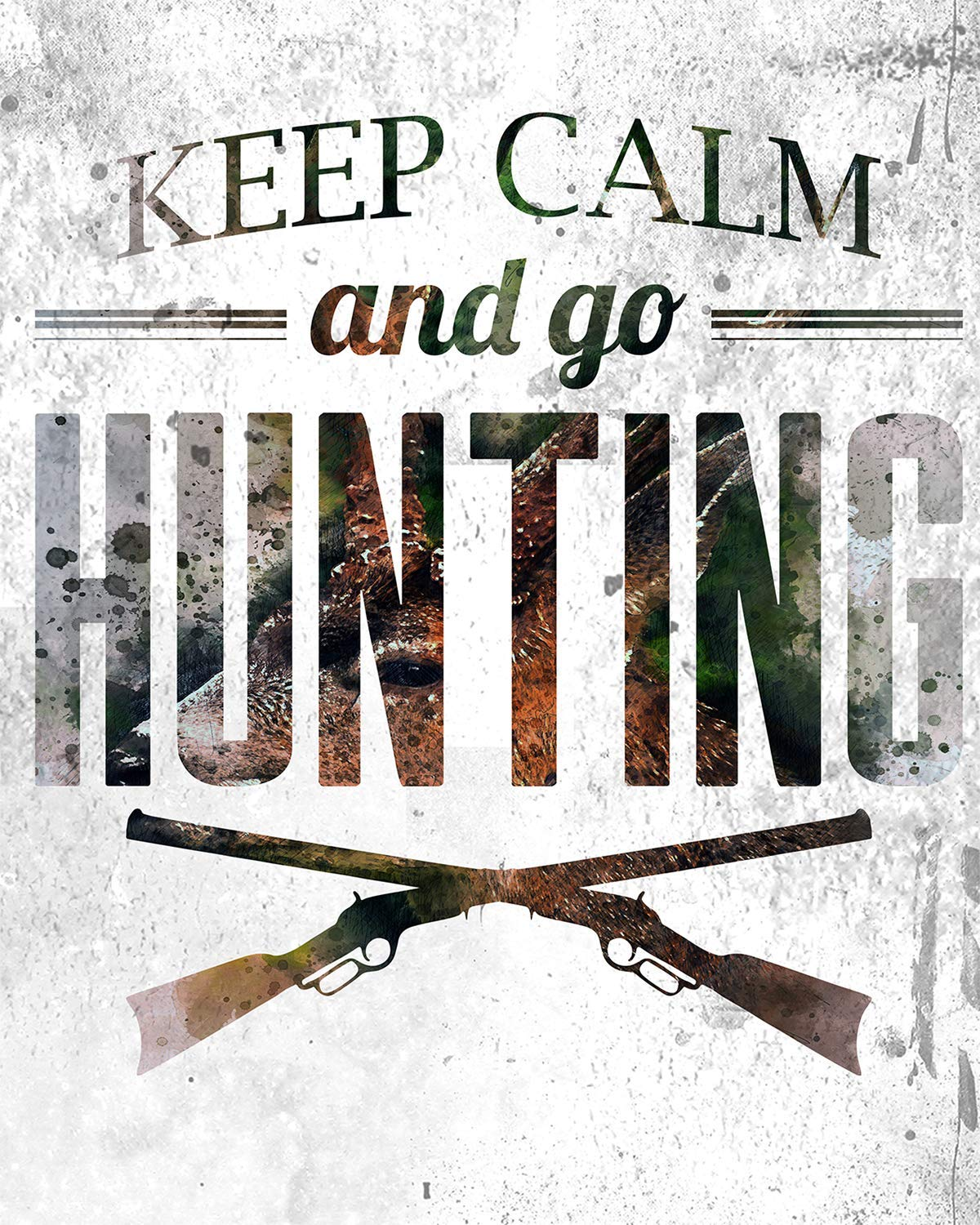 Hunting Rifle after Brand Art Coloured Pencil Effect Canvas Picture Wall Deco