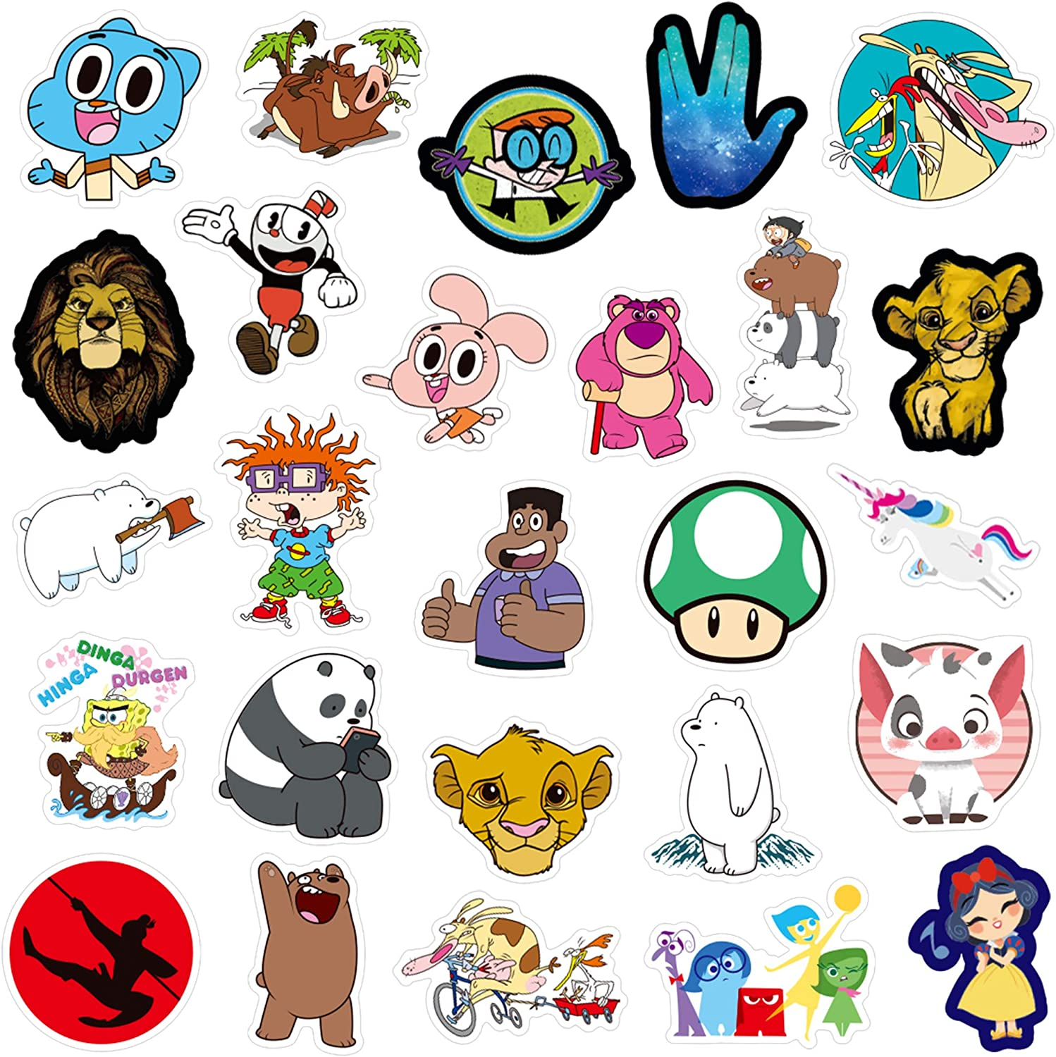 QWDDECO Cute Sticker Pack [101 pcs] Vinyl Stickers for Laptop,Skateboard,Bike,Luggage,PS4,Xbos one,iPhone-Party Favors for Teens,Boys and Girls-Graffiti Decal-Waterproof