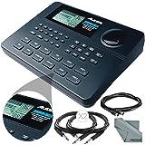 Alesis SR-16 16-Bit Stereo Drum Machine and Basic Bundle w/Cables and Fibertique Cloth