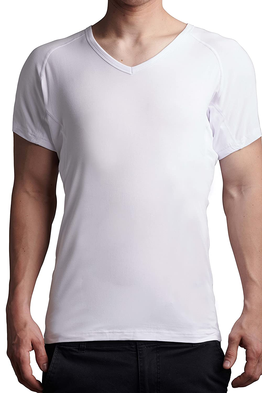 Deepvtee Sweat Proof Undershirt Micro Modal V Neck Ultra Soft