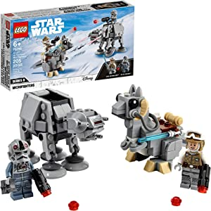 LEGO Star Wars at-at vs. Tauntaun Microfighters 75298 Building Kit; Awesome Buildable Toy Playset for Kids Featuring Luke Skywalker and at-at Driver Minifigures, New 2021 (205 Pieces)
