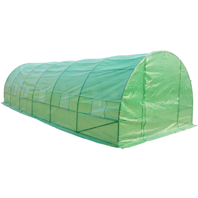HOMCOM Invernadero 8 Metros 8x3x2metros Acero y PE 140g/m2 Cultivo Plantas Tomates Verduras: Amazon.es: Hogar