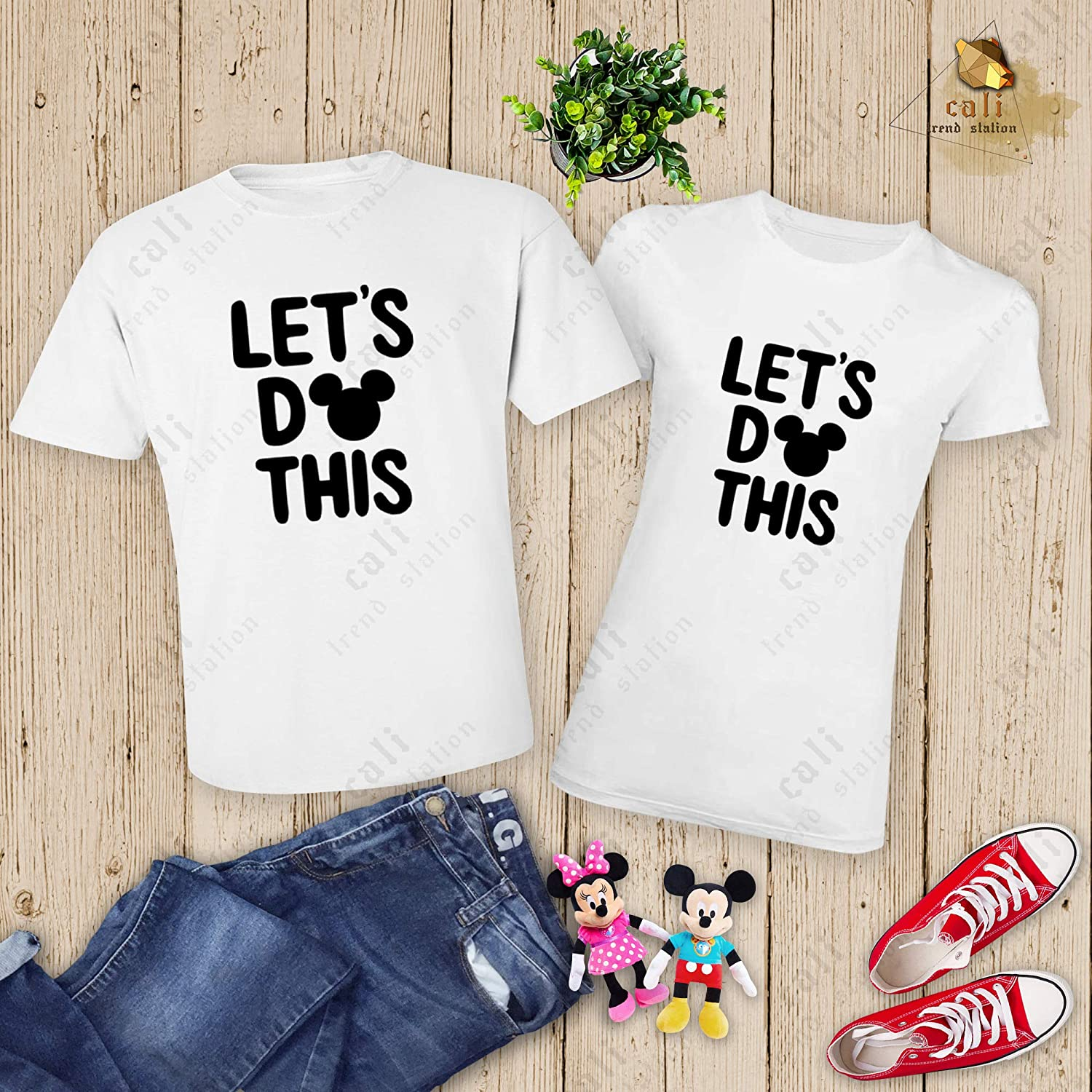 Cali Trend Station Family Vacation 2019 Mickey Minnie Mouse Matching T Shirts