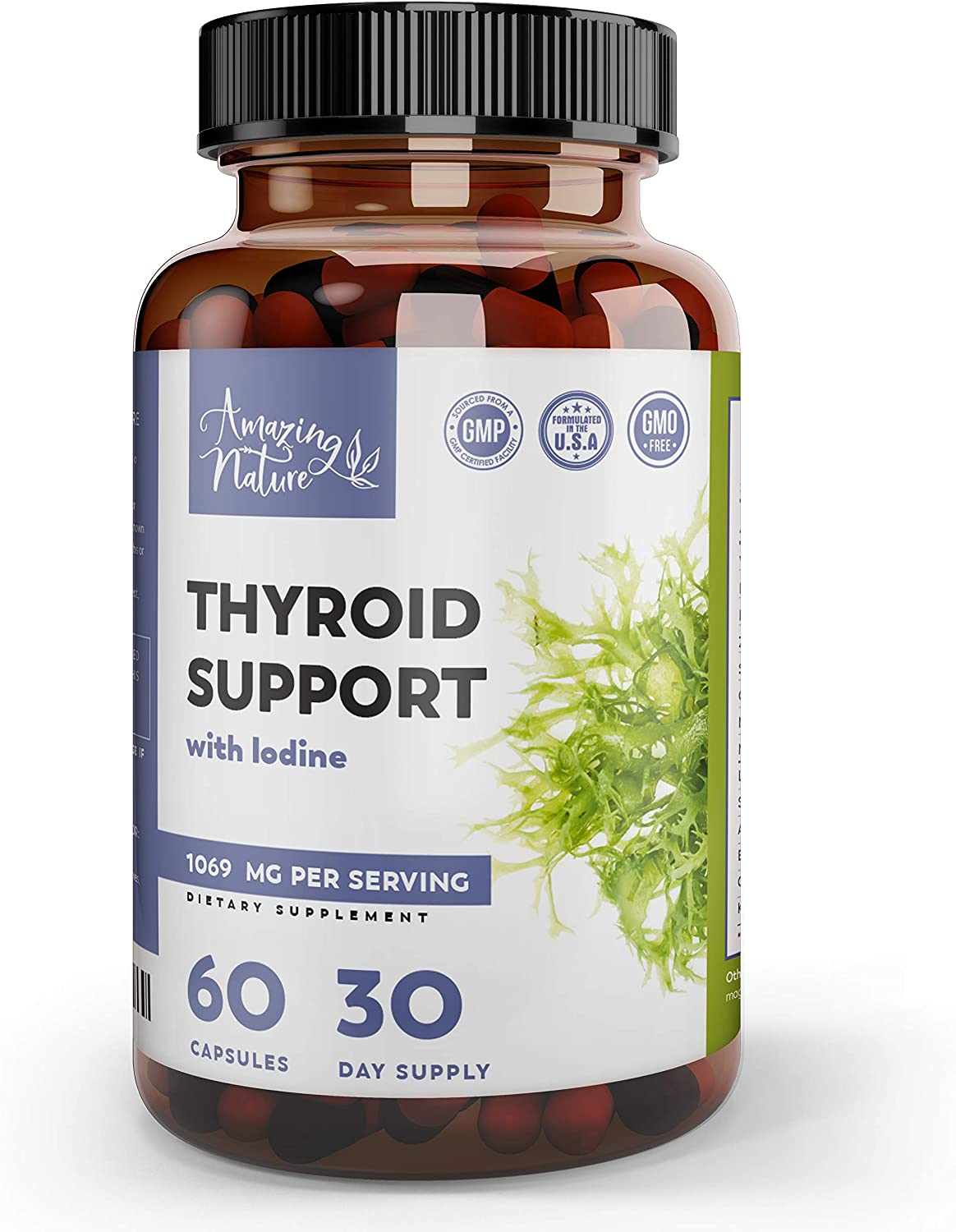Thyroid Support & Iodine Supplement – Metabolism Booster, Lose Weight & Energy Pills for Thyroid Energy with Selenium, Magnesium & Adaptogens – Ashwagandha, L-Tyrosine, Kelp