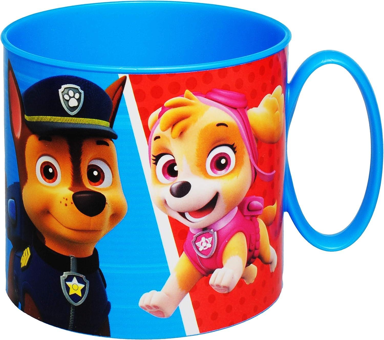 Hunde Kunststoff Plastik BPA frei alles-meine.de GmbH Trinkbecher // Henkeltasse Name 250 ml Mikrowellen geeignet Trinklerntasse // Trinklernbecher.. Paw Patrol inkl