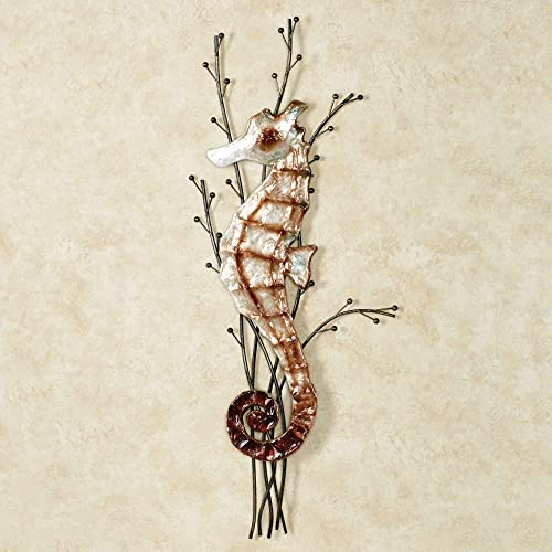Touch of Class Atlantic Seahorse Metal Wall Sculpture Brown One Size