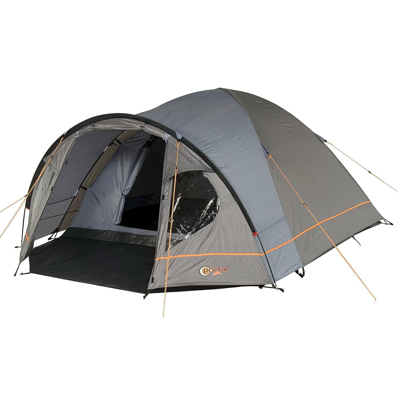 Portal Camping-Zelt Zeta 4 Kuppelzelt mit Schlafkabine für 4 Personen Outdoor Familienzelt mit Vorraum, Dauerbelüftung, Bodenplane, wasserdicht mit 4000mm Wassersäule