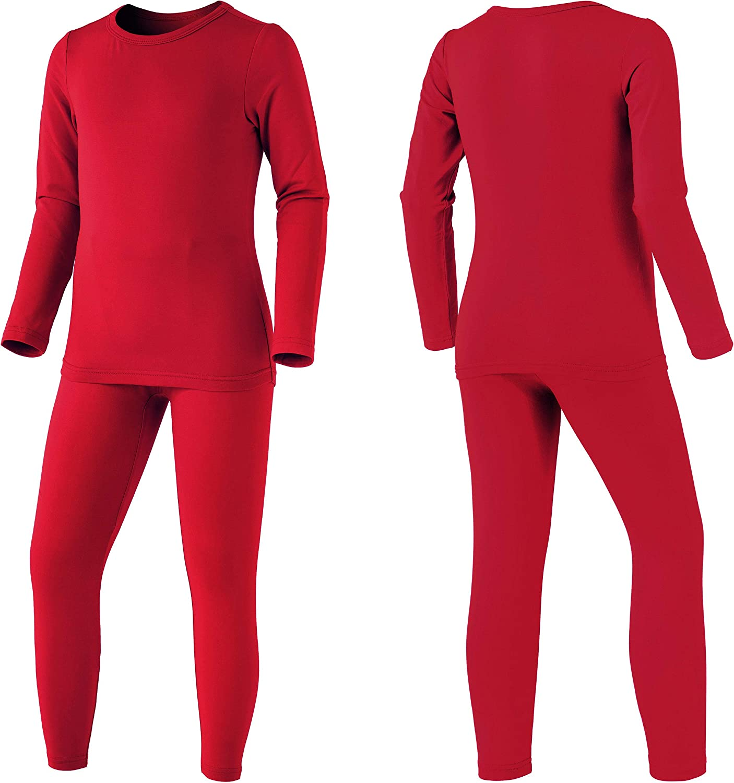 Winter Base Layer Top /& Bottom Soft Fleece Lined Long Johns TSLA Kids /& Boys and Girls Thermal Underwear Set
