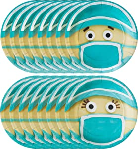 Havercamp Doctors and Nurse Plates | 16 Count | Great for Medical-Themed Party, Paramedic Graduation Celebration, Kid's Birthday, Nursing School, Additional Party Supply