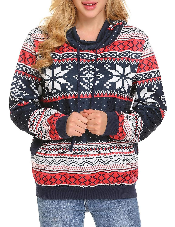 Zeagoo Women's Pullover Hoodie Sweatshirt Dress Loose Fit Long Sleeve Kangaroo Pocket ZTH020270