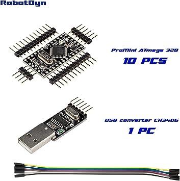 10pcs New Pro Mini atmega328 5V 16M Replace ATmega128 Arduino Compatible Nano