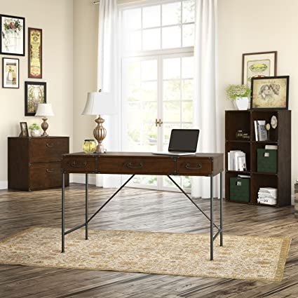 Amazoncom Kathy Ireland Office Ironworks 48w Writing Desk 2