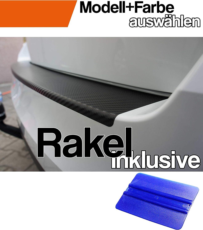 Mokka X Ladekantenschutz Lackschutzfolie von CCW/© mit Profi-Rakel in 3D Carbon Schwarz
