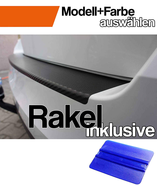 i40 CW Kombi Ladekantenschutz Lackschutzfolie mit Profi-Rakel von WIZUALS/© mit Profi-Rakel in 3D Carbon Schwarz