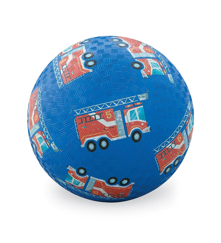 Crocodile Creek - Ballon Camion de pompier bleu (18 cm) - Bleu foncé 2141-4