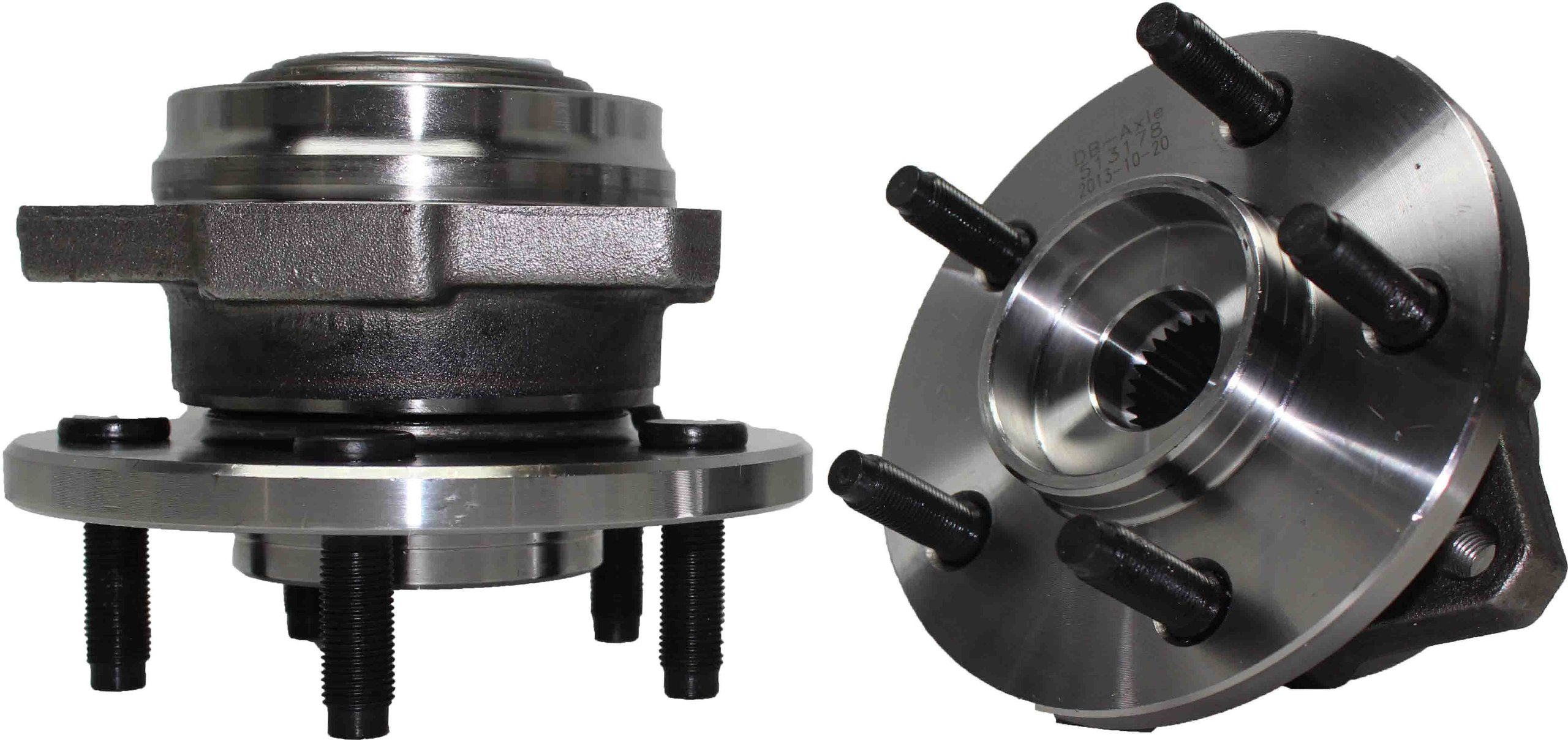 Brand New (Both) Front Wheel Hub and Bearing Assembly 5 Lug No ABS for [2002-2005 Jeep Liberty Non-ABS] by Detroit Axle