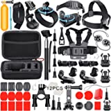 Leknes 54-in-1 Kit de accesorios Deportes al aire libre Bundle para GoPro Hero Session/GoPro hero 5 4 3+ 3 2 1 SJCAM SJ4000 SJ5000 SJ6000 Lightdow / Xiaomi Yi / WiMiUS / DBPOWER / Cámara de Acción APEMAN / Action Camera Campark