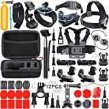Leknes Zubehör Bundle Set für GoPro Hero 6 5 4 3+ 3 2 1, Sport-Kamera Zubehör Kit für Outdoor-Sport Fallschirmspringen Schwimmen Rudern Surfen Klettern Laufen Biking Camping Tauchen Ausflug