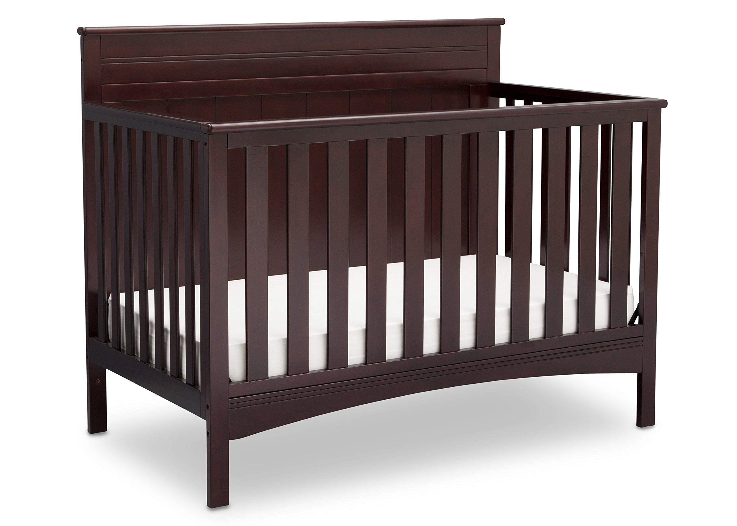 Baby Crib Mattress Critiques Amazon.com : Delta Children Fancy 4-in-1 Convertible Baby Crib, Dark  Chocolate : Baby