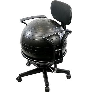 amazon com live up balance ball posture chair exercise yoga ball