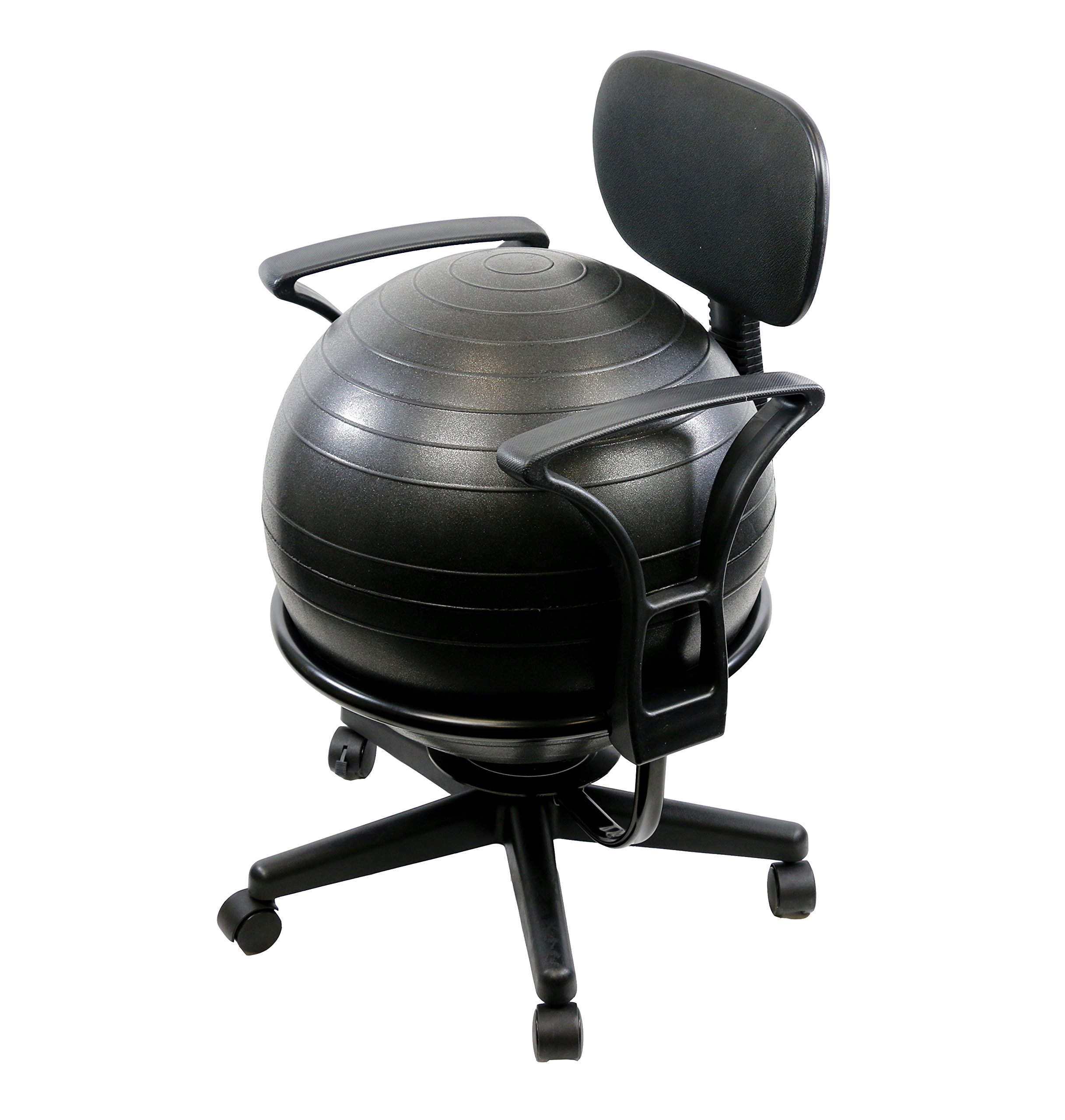 CanDo Metal Ball Chair, 22'' with Arms