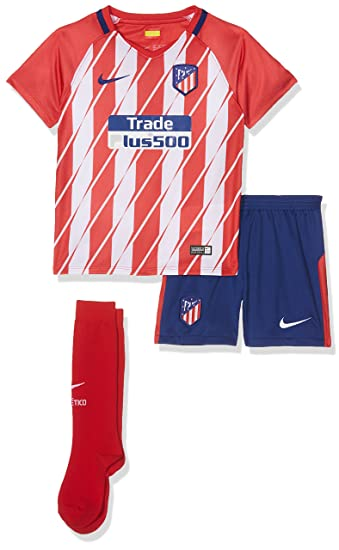 2017-2018 Atletico Madrid Home Nike Little Boys Mini Kit