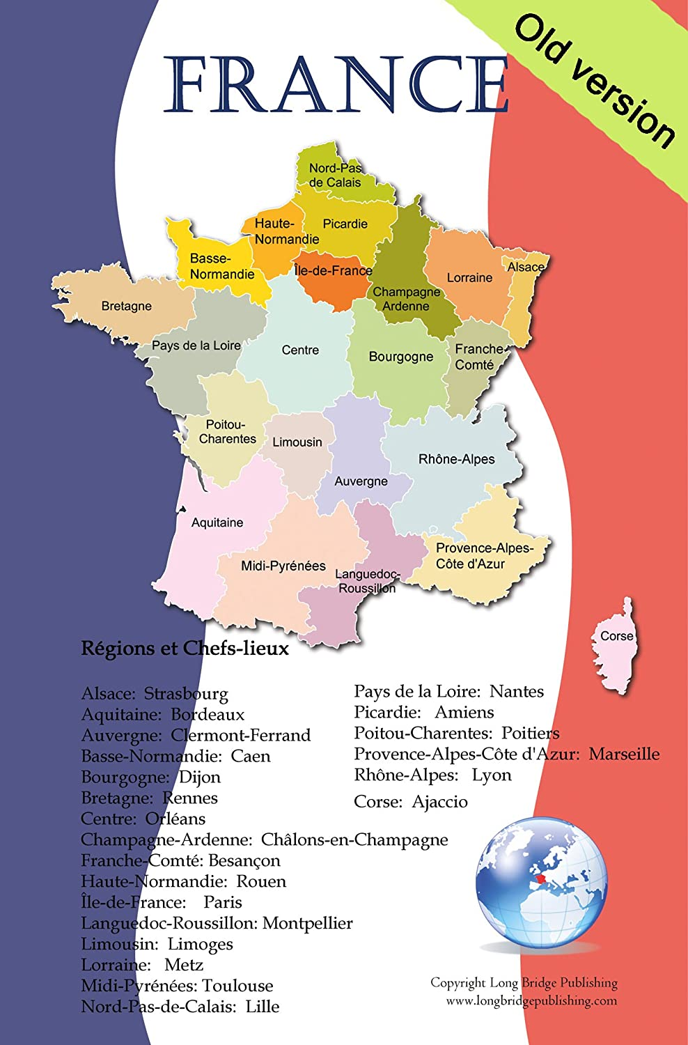 Amazoncom French Language School Poster Map Of France With - Limoges france map