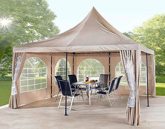 QUICK STAR - 2 Paredes Laterales con Ventana de PVC para cenador Sahara 4 x 4 m, Color Arena: Amazon.es: Jardín