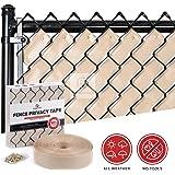 Fenpro Chain Link Fence Privacy Tape (Desert Sand)