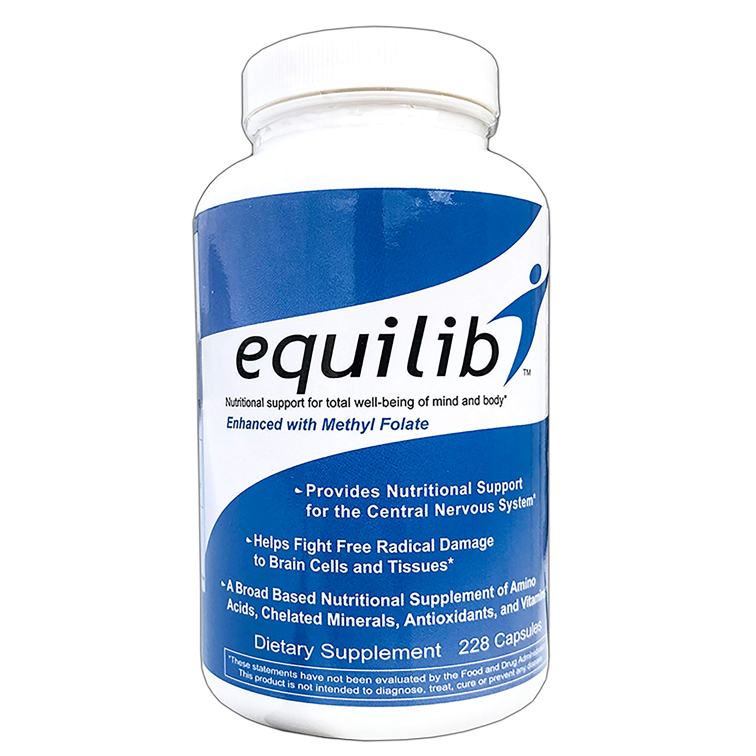 Equilib All Natural Supplement Capsules Enhanced with Methyl Folate, 228 Count by Equilib