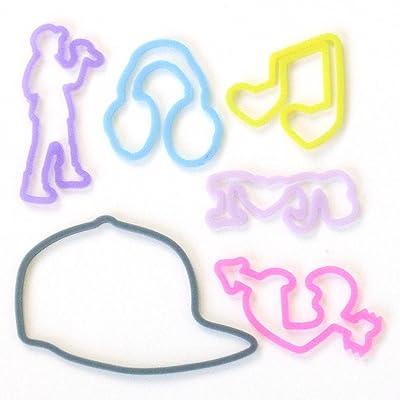 Silly Bandz Shaped Rubber Bands Bracelets 24Pack Justin Bieber: Toys & Games