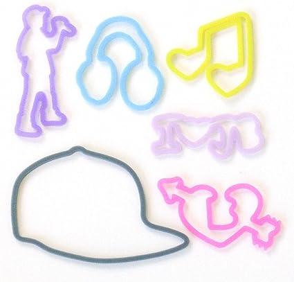 Silly Bandz Pulseras De Bandas De Goma Con Forma De Paquete De 24 Justin Bieber Toys Games