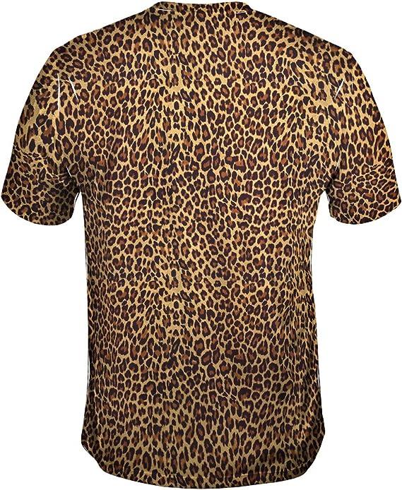 Yizzam- Camiseta de Piel de Guepardo para Hombre