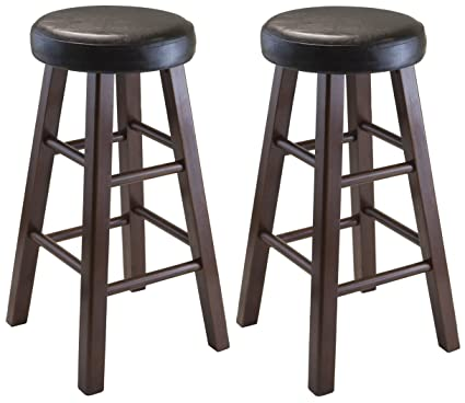 Elegant Round Step Stool with Wheels