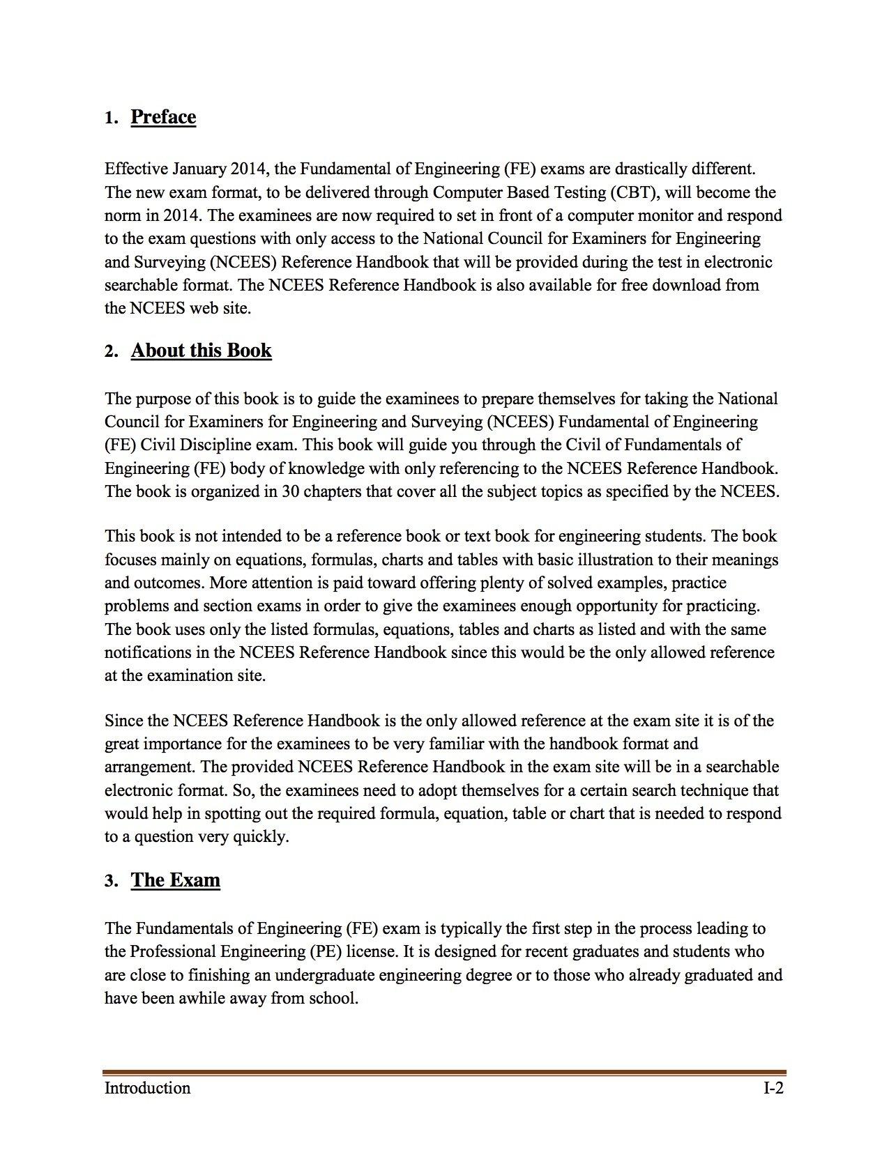 Fundamentals of Engineering (Civil) - Exam Preparation Guide: M.Sc, P.E.  Sameh Hegazi: 9780985697266: Amazon.com: Books