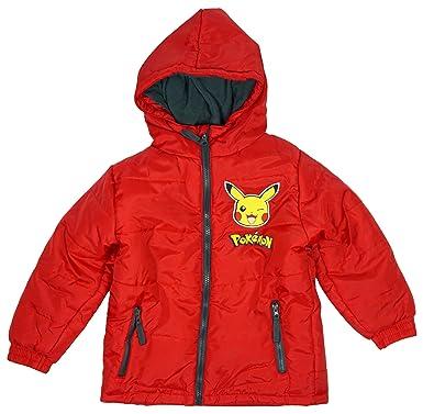 300e20710 Pokemon Boys Official Pikachu Padded Hooded Coat Jacket Anorak sizes ...
