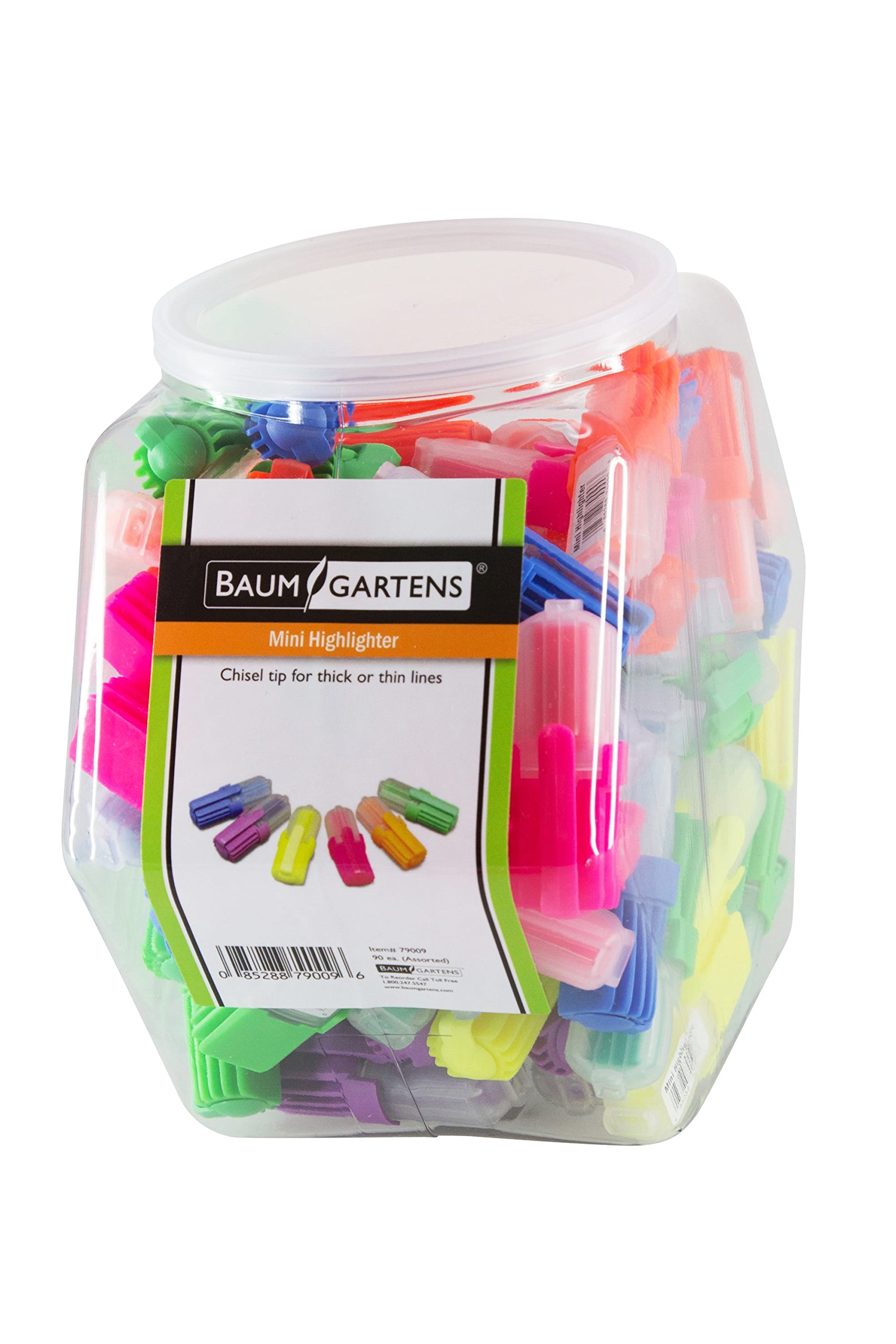 Baumgartens Mini Highlighters Hexagonal Tub Display of 90 Assorted Colors (79009) by Baumgartens (Image #1)