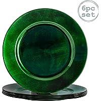 Argon Tableware Juego de bajoplatos Redondos - Verde