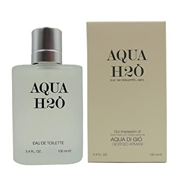 AQUA H2O Perfume, 3.4 fl.oz. Eau De Toilette Spray for Men,