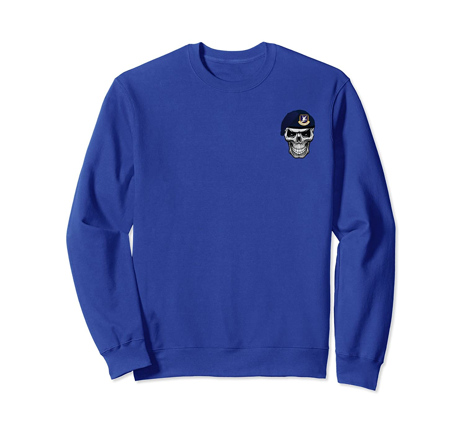 Air Force Security Forces Defender Patch Skull Sweatshirt-mt