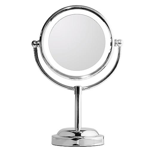 7 opinioni per Specchio Trucco Illuminato,specchio makeup del LED,6in a doppia faccia