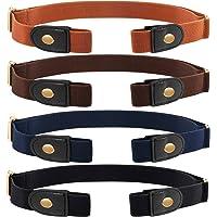 4 Piezas de Cinturón Elástico Sin Hebilla Cinturón Sin Hebillas Cinturón Elástico Invisible Unisex para Pantalones…