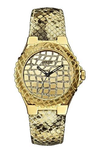 Guess Damen-Armbanduhr Analog Quarz Leder W0227L2