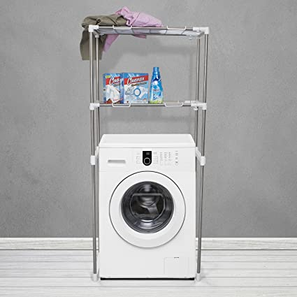COMFOLD Adjustable Stainless Steel Utility Storage Rack For Washing Machine